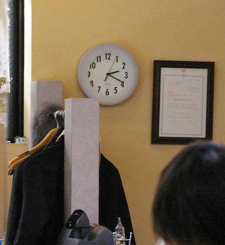 鏡の中 時計.JPG